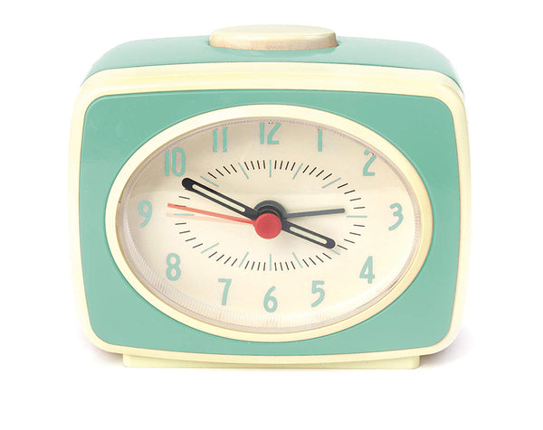 Mini Retro Alarm Clock in Mint