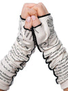 Novel Book Arm Warmer Gloves- Alice in Wonderland