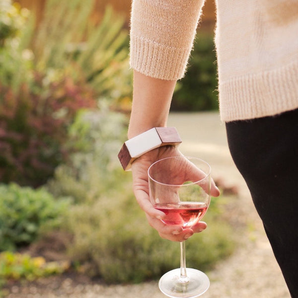 Wine Barrel Bangle Bracelets 1 inch (Made in Napa Valley)