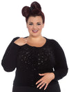 Black Beaded Classic Cardigan