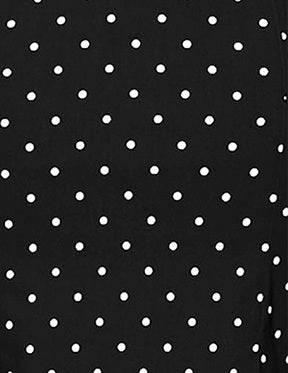 Black and White Polka Dot Pencil Skirt