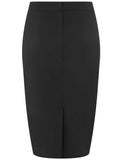 Classic Black Bengaline Pencil Skirt