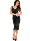 Black and White Polka Dot Bombshell Dress
