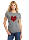 Calistoga heart tee (gray)
