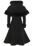 Black Princess Coat with Cape