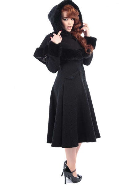 Hedren Coat Dress in red - Unique Vintage (XL-3X)