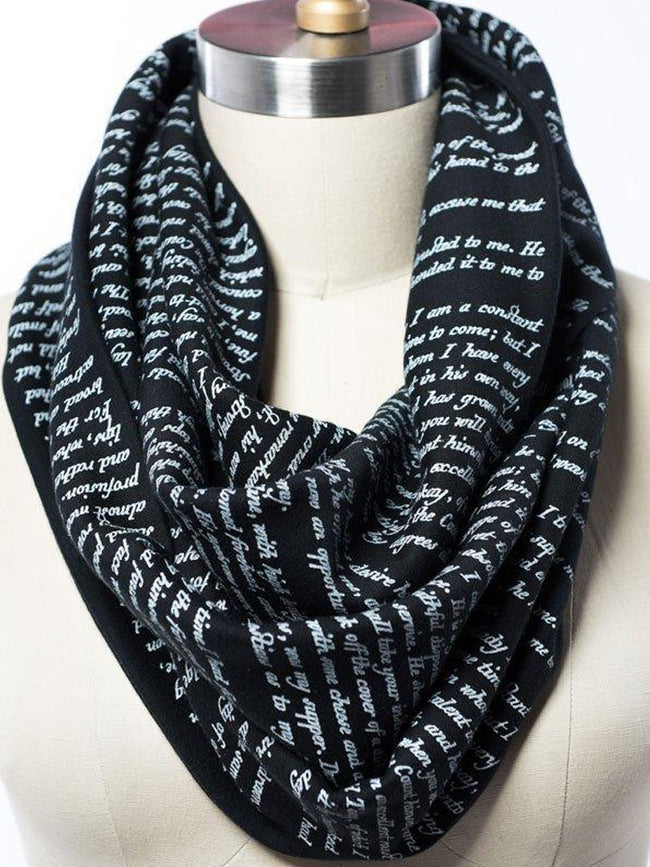 Novel Book Infinity Scarf-Dracula