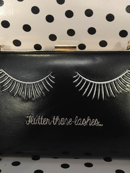 Flutter Those Lashes Clutch Bag