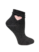 Sparkly shimmer love socks with pink heart