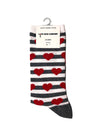 Organic Red heart + Stripe socks