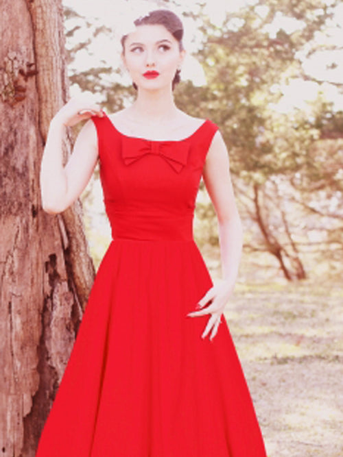 Audrey Little Red Swing Dress