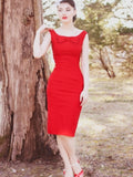Audrey Little Red Fitted Dress