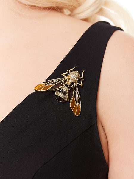Flutter Bee Dress with 2 brooches