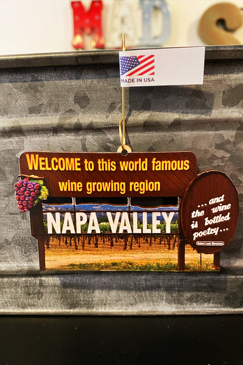 Napa Valley Welcome Sign (ornament or magnet)