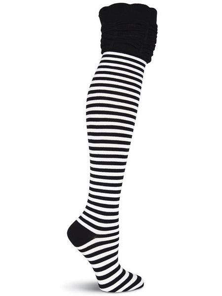 Over the Knee with Rouched Top Striped Socks