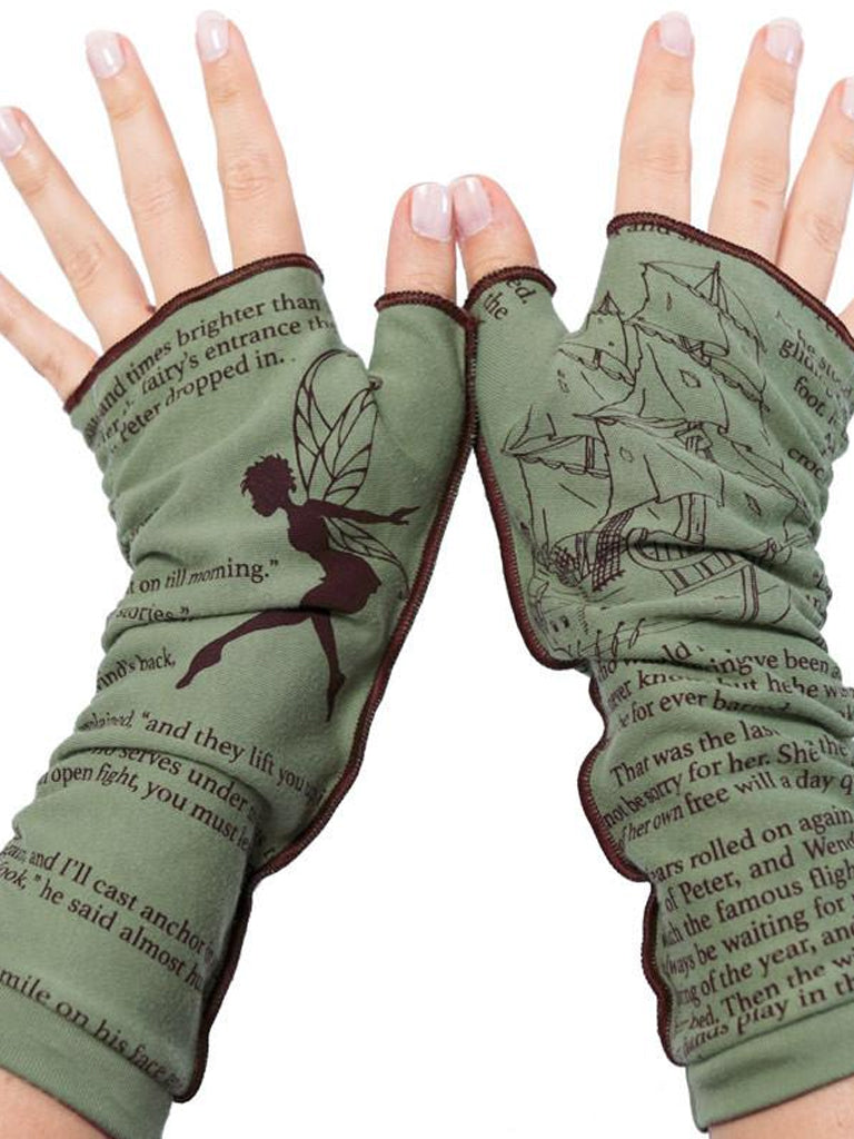 Novel Book Arm Warmer Gloves- Peter Pan