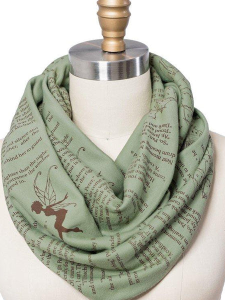 Novel Book Infinity Scarf- Peter Pan