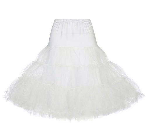 Tea Length Petticoat (black, red or white)