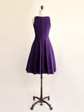 Plum Perfection Swing Dress with Pockets