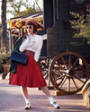 Classic Red Swing Skirt with Pockets