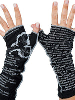 Novel Book Arm Warmer Gloves- The Raven- Edgar Allen Poe