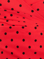Red + Black Polka Dot Bombshell Dress