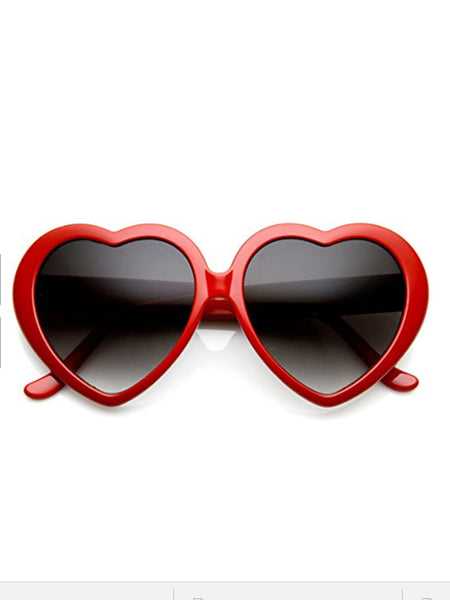 Retro Heart Sunglasses- Black