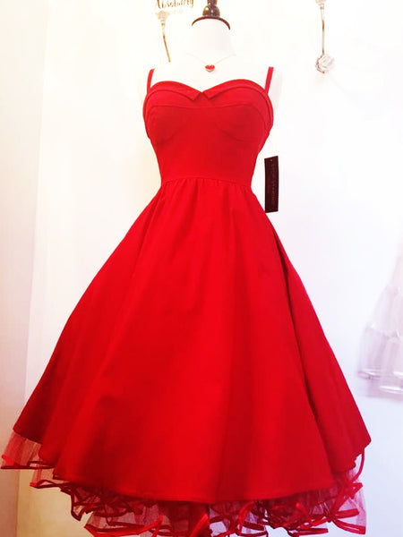 Valentina Wiggle Dress in red