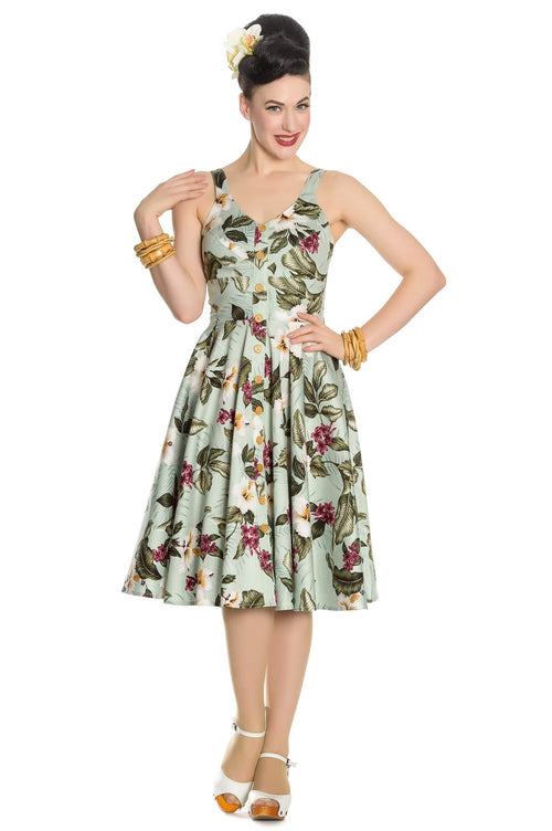 Tiki time swing dress with pockets