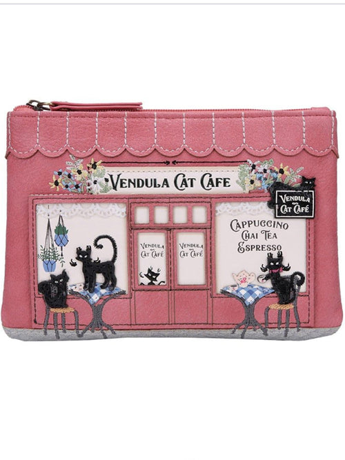 Vendula London Cat Cafe Zipper Coin Purse