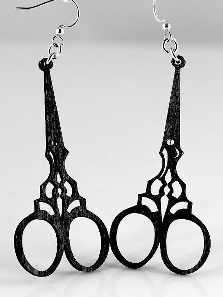 Wood Vintage Shears Earrings