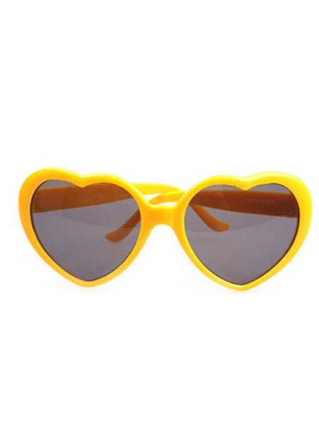 Retro Heart Sunglasses- Yellow