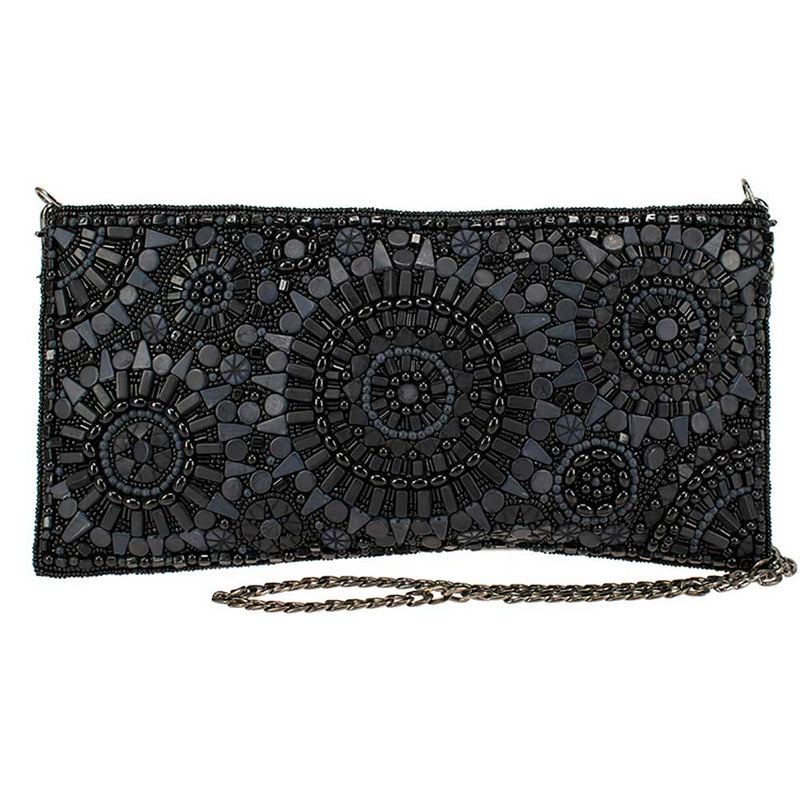 Mary Frances Accessories - Circle Up Beaded Crossbody Clutch Handbag