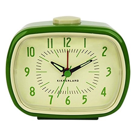 Retro Alarm Clock in Green
