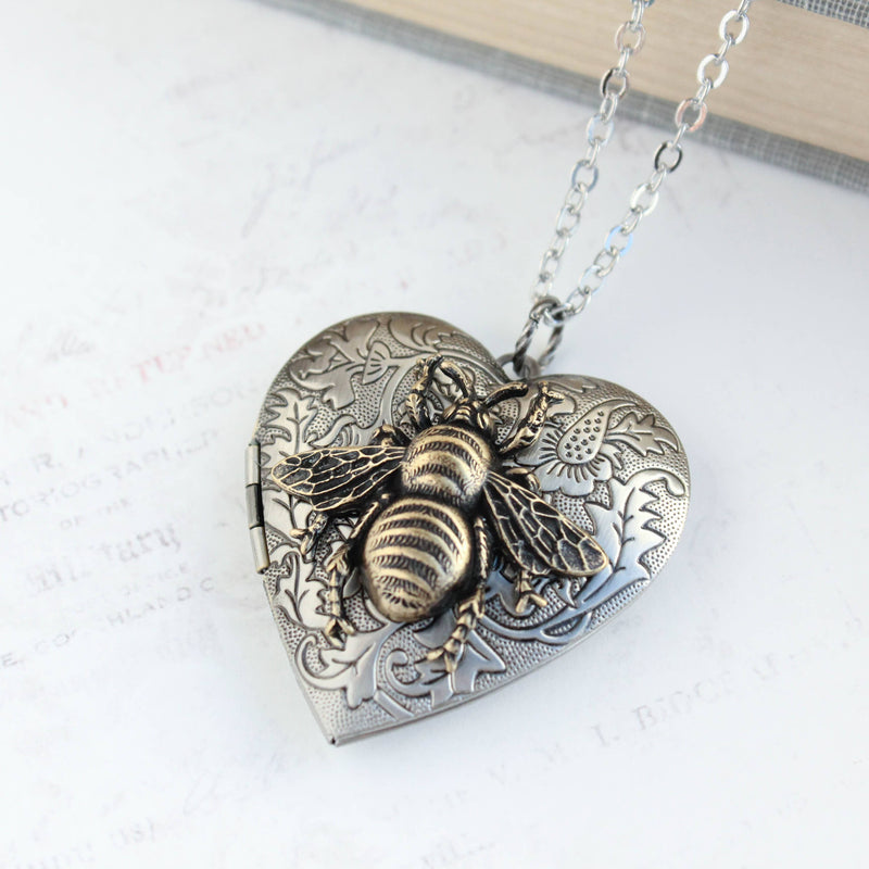 Big Bee Heart Locket