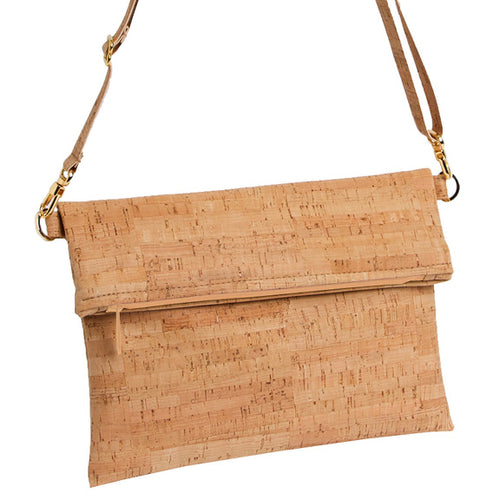 Natalie Therese - Be Flexible Fold Over Cross Body Bag | Rustic Cork