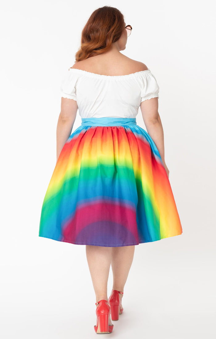 Somewhere over the Rainbow Swing Skirt