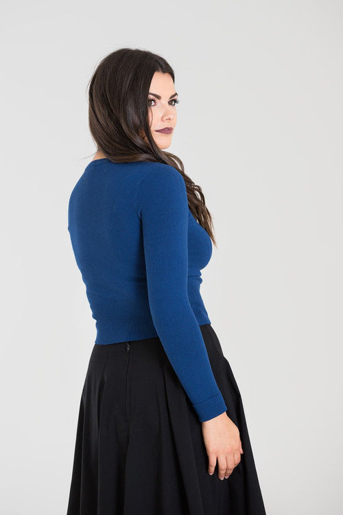 Classic 50's Cardigan in Navy