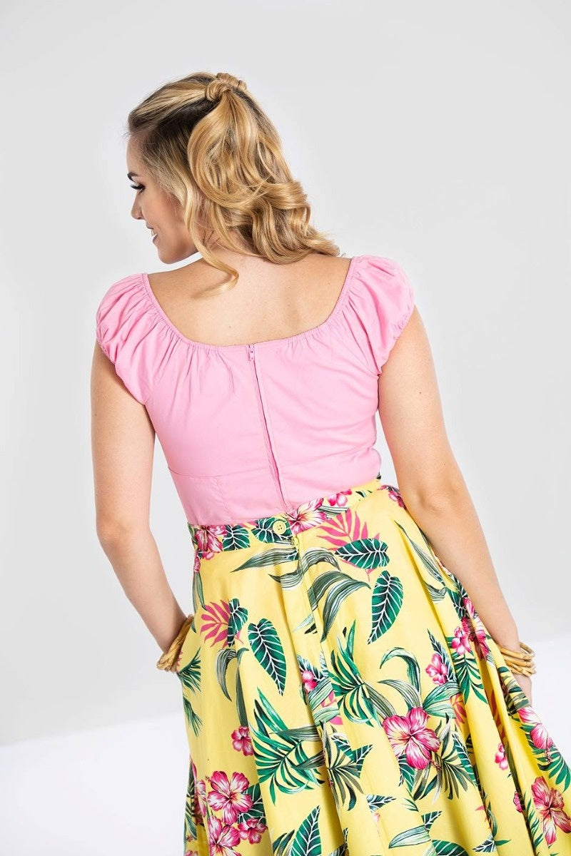 Sunshine Top in pink