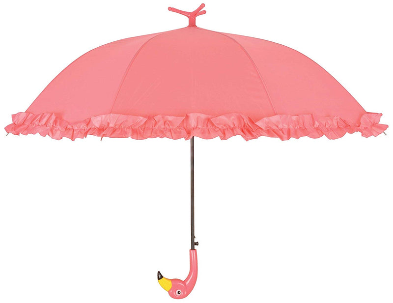 Freestanding flamingo umbrella