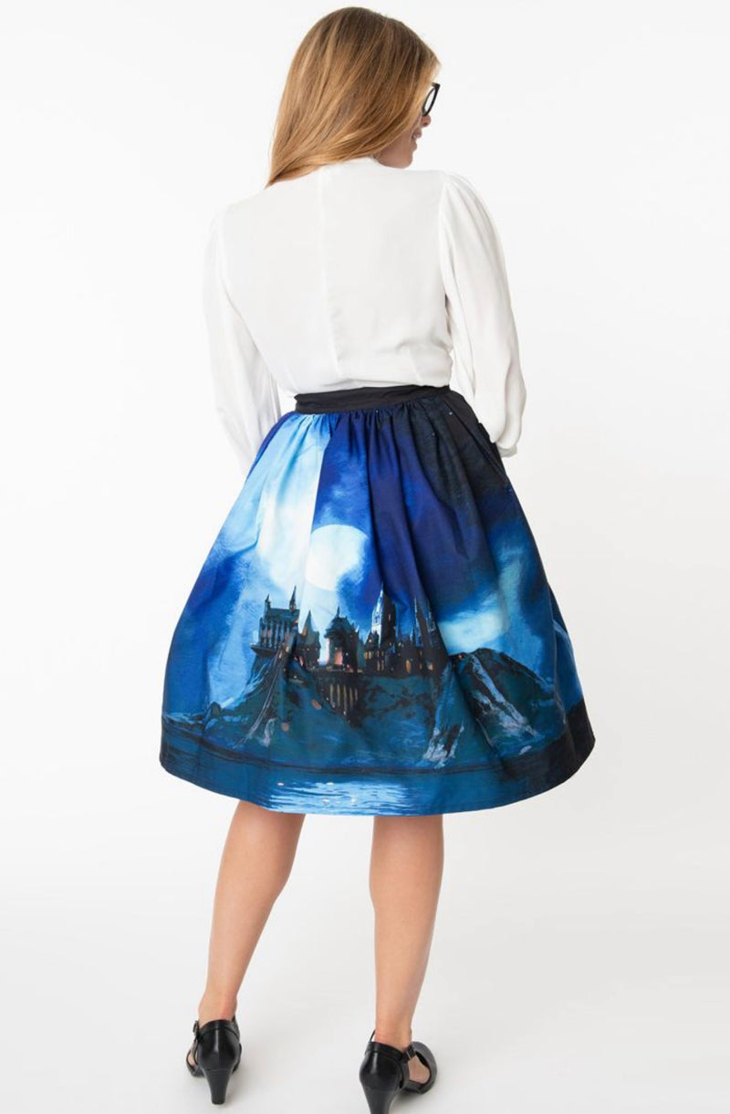 Hogwarts Magical Swing Skirt with pockets