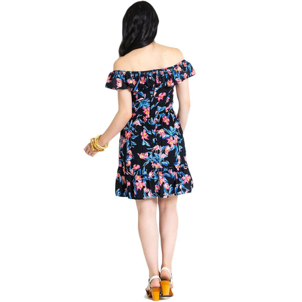 Flamingo Tiki Dress with pockets