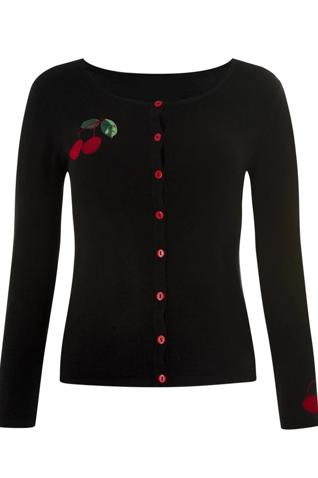 Embroidered Cheery Cherry Cardigan