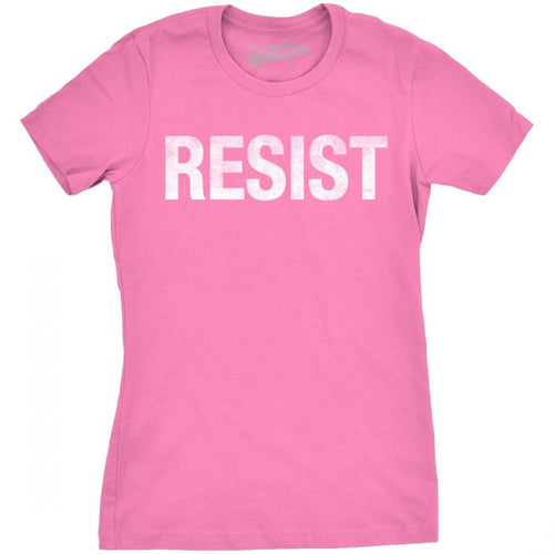 Resist Women's Slim fit Tee shirt- Pink