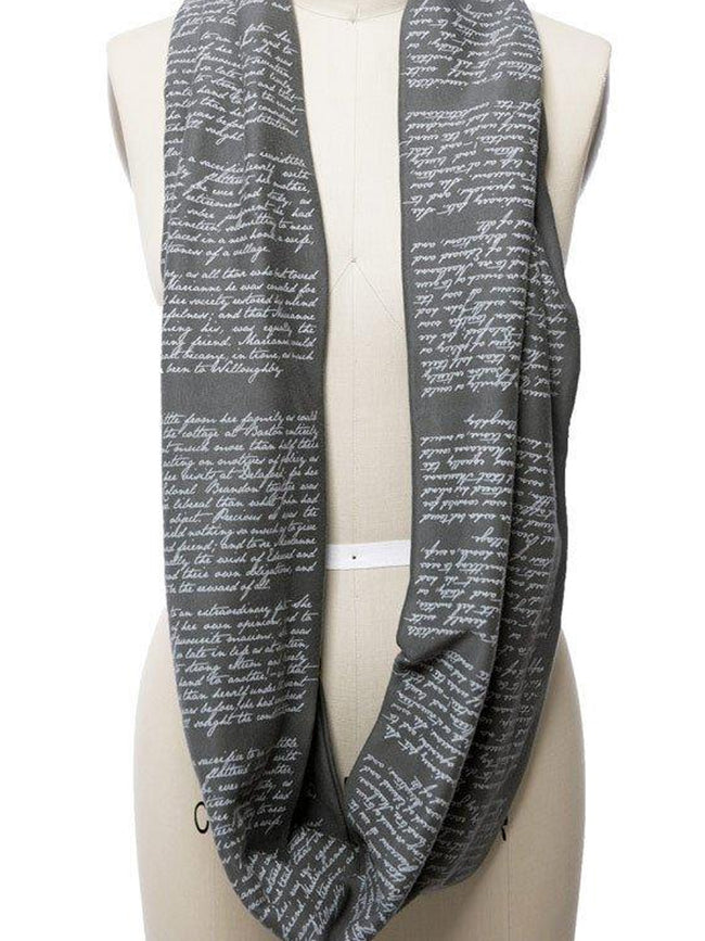 Novel Book Infinity Scarf-Sense and Sensibility