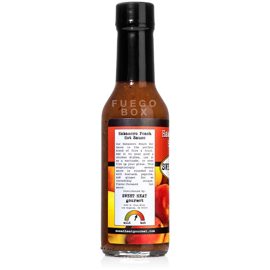 Sweet Heat Gourmet Peach Habanero Hot Sauce