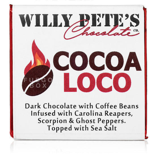 Cocoa Loco Extra Spicy Chocolate by Willy Pete's (3 Small Bars)