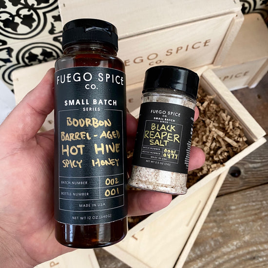 Barrel Aged Hot Hive and Black Reaper Salt | Small Batch Series