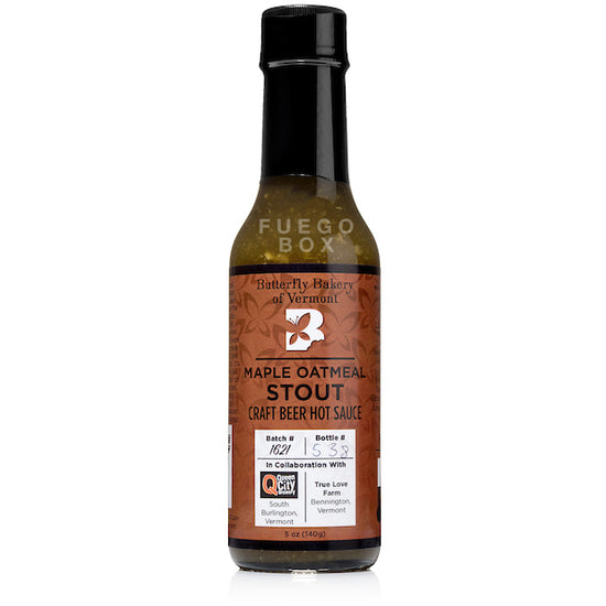 Butterfly Bakery Maple Oatmeal Stout Hot Sauce