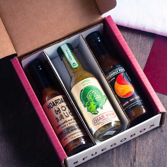 3-Bottle Monthly Hot Sauce Subscription Prepay 12 Months